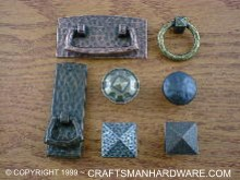 copper style arts crafts hardware suite
